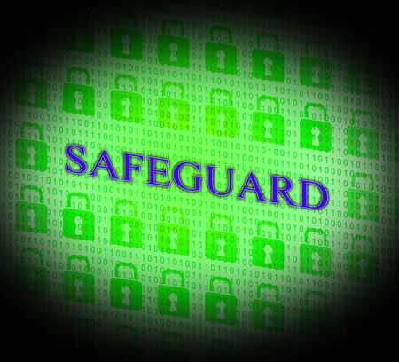 safeguard: Locked Safeguard Representing Encryption Padlock And Private