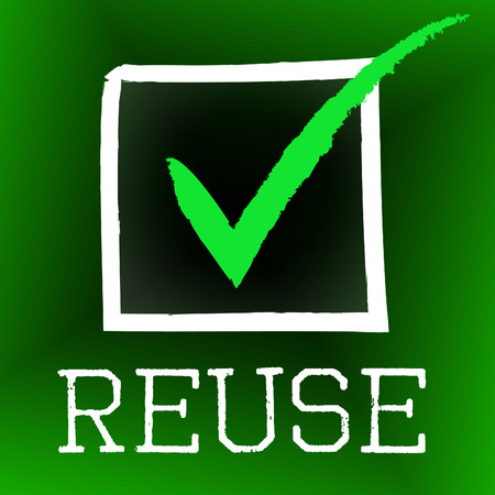 Reuse Tick Showing Go Green And Confirm photo