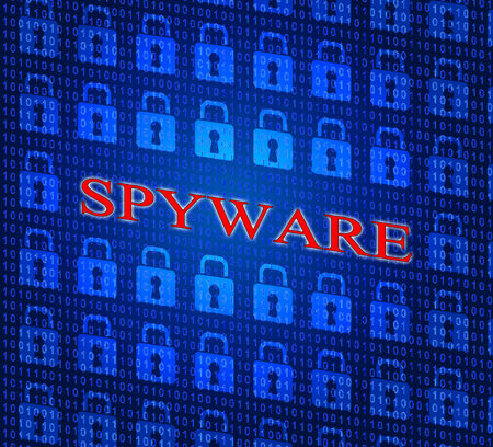 unauthorized: Spyware Hacked Indicating Attack Vulnerable And Unauthorized Stock Photo