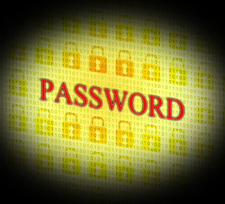 logon: Security Password Showing Log In And Secured Stock Photo