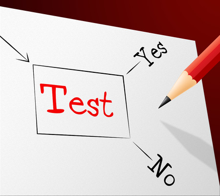 Quiz Test Indicating Questions And Answers And Quizzes Choosing Stock Photo