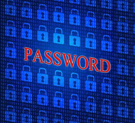 logon: Password Security Meaning Log In And Permission Stock Photo
