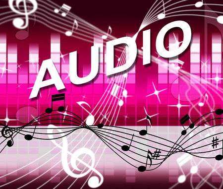 soundtrack: Audio Music Representing Musical Note And Track