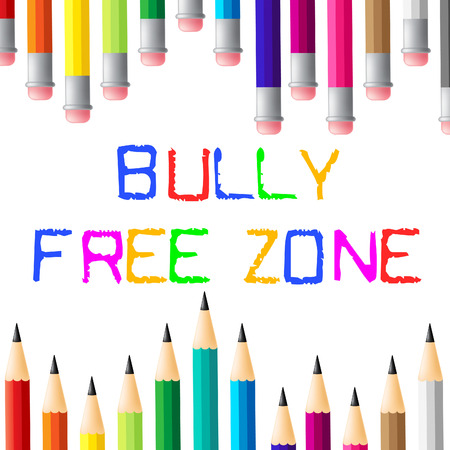 cyber bullying: Bully Free Zone Meaning No Bullying And Assistance Stock Photo