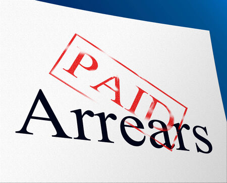arrears: Arrears Paid Showing Settlement Payment And Paying