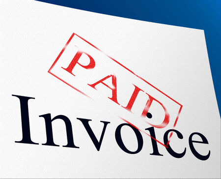 Invoice Payments Meaning Paying Finance And Bill photo