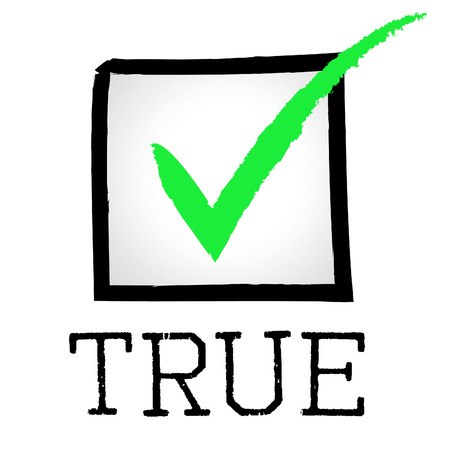 verifiable: Tick True Representing No Lie And Pass
