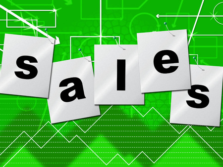 infochart: Sales Selling Indicating Business Graph And Infochart Stock Photo
