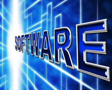 shareware: Technology Software Showing Digital Hi-Tech And Shareware
