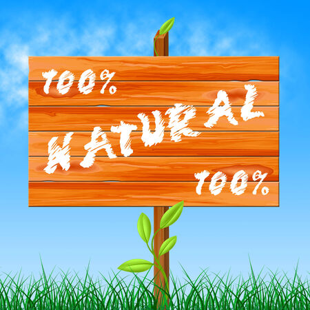 completely: One Hundred Percent Representing Completely Nature And Bio Stock Photo