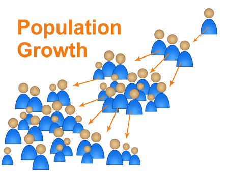 population growth: Population Growth Representing Newborn Family And Reproduction