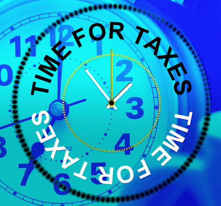 levy: Time For Taxes Indicating Duties Levy And Irs