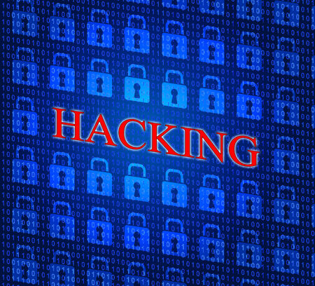 hacked: Hacking Online Showing World Wide Web And Website