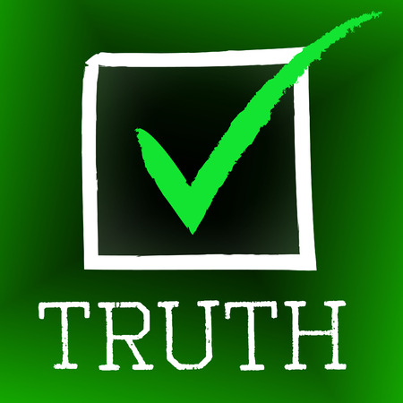 verifiable: Truth Tick Representing No Lie And Accuracy