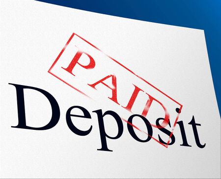 installment: Paid Deposit Representing Part Payment And Paying