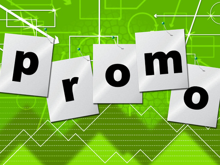closeout: Promo Promotion Representing Closeout Discount And Merchandise Stock Photo