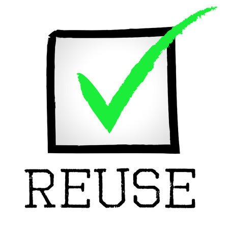 Reuse Tick Representing Go Green And Environment photo