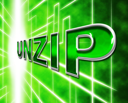 unzip: File Unzip Representing Files Folder And Correspondence