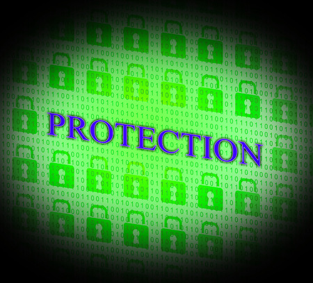 unauthorized: Security Protection Showing Unauthorized Forbidden And Encryption Stock Photo