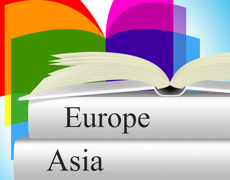 the far east: Travel Asia Meaning Far East And Euro Stock Photo