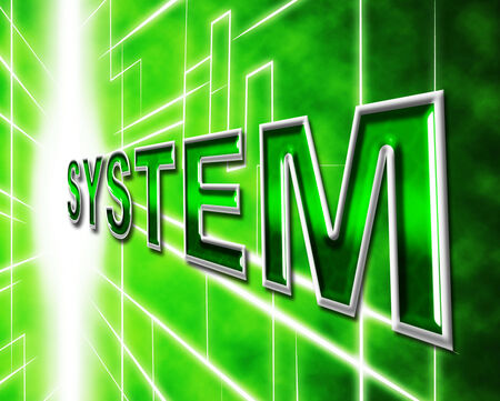 organizing: System Technology Meaning Organizing Data And Digital Stock Photo