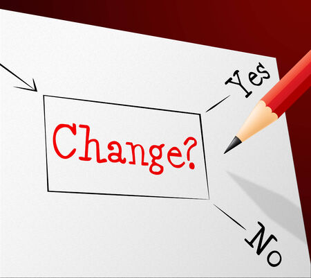 changed: Choice Change Showing Rethinking Decision And Changed