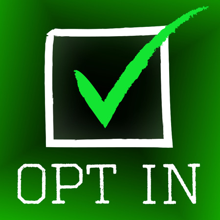 opting: Opt In Meaning Tick Symbol And Pass