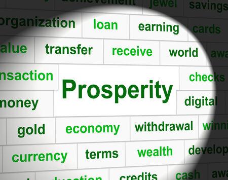 prosper: Prosperity Prosper Showing Money Profits And Finance