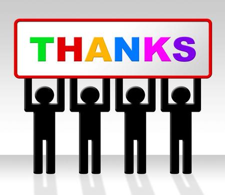 agradecimiento: Gracias Mostrando Muchas gracias y gratitud