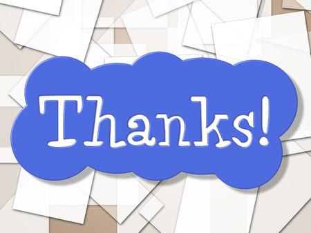 agradecimiento: Reg�strate Gracias Representaci�n Publicidad Gratitud Y Letrero Foto de archivo