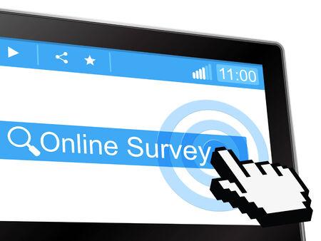 online survey: Online Survey Indicating World Wide Web And Website