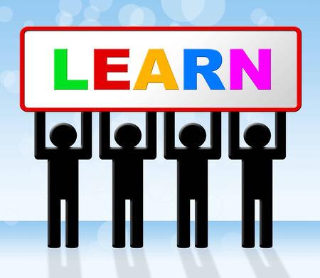 lernte: Erfahren Learning Anzeigeuniversit�tsausbildung, lernte Lizenzfreie Bilder