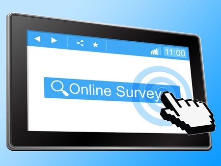online survey: Online Survey Meaning World Wide Web And Website Stock Photo