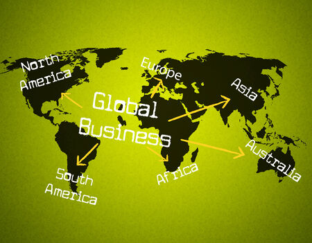 globally: Global Business Showing Globalization Globally And Company