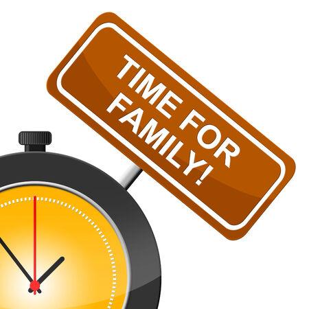 the offspring: Tiempo para la familia que muestra la relaci�n de sangre y la descendencia