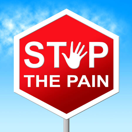 heartbreak: Stop Pain Representing Warning Sign And Heartbreak