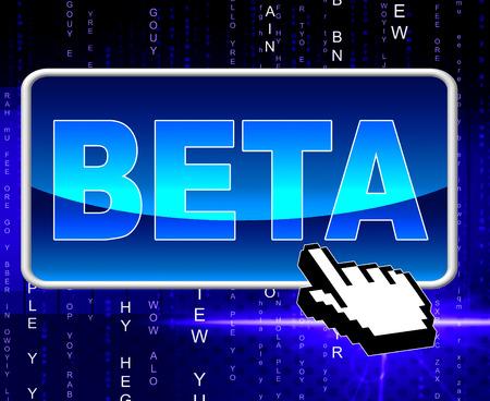 beta: Beta Button Representing World Wide Web And Website Archivio Fotografico