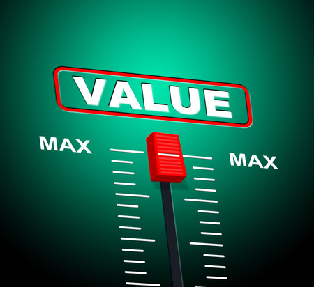 valued: Value Max Indicating Upper Limit And Valued Stock Photo