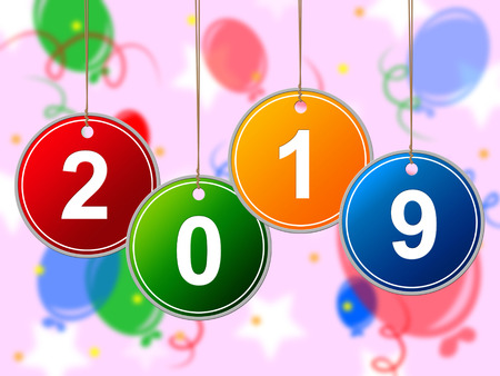 nineteen: Capodanno Indicando Duemila Nineteen e festeggiare