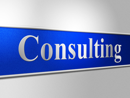 consulted: Consult Consulting Representing Take Counsel And Converse Stock Photo