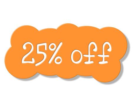 twenty five: Veinticinco por ciento Significado de Ahorros de promoci�n y oferta