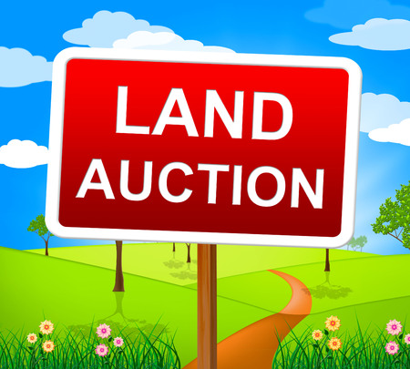 bidding: Land Auction Representing Building Plot And Bidding