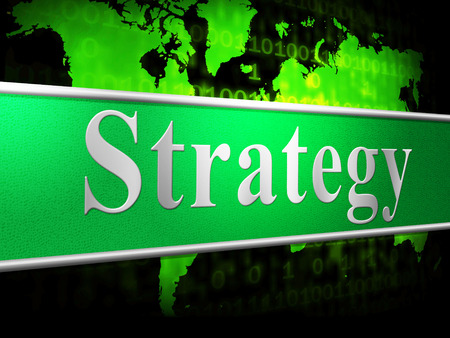 Strategy Business Representing Corporate Corporation And Trade Stock Photo