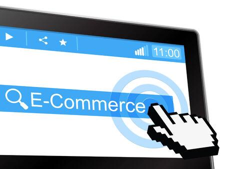 e commerce: E Commerce Representing World Wide Web And Website Stock Photo