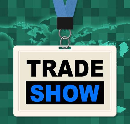 Trade Show Betekenis World's Fair en export Stockfoto