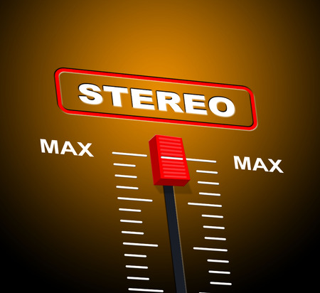 fidelity: Stereo Music Indicating Hi Fidelity And Graphical Stock Photo