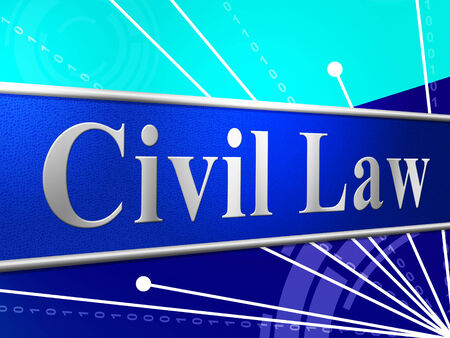 legally: Civil Law Showing Statute Judicial And Jurisprudence Stock Photo