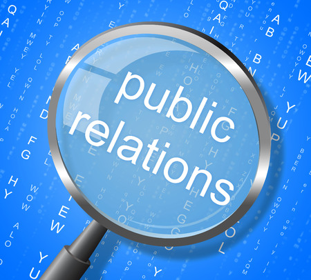 promoting: Public Relations Indicating Promotion Promoting And Promotional Stock Photo