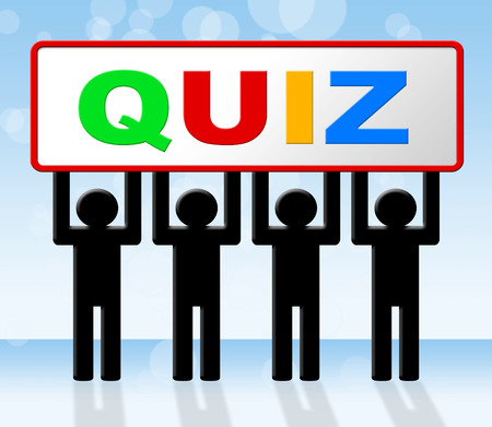 Exam Test Representing Questions And Answers And Quiz Game