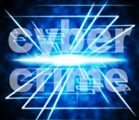 unlawful act: Cyber Crime Showing World Wide Web And Website